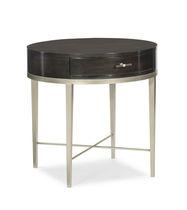 Table d'appoint contemporaine / en bois de feuillus / en métal / ronde