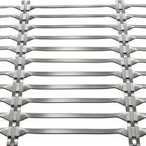 Grille métallique pour façade / pour brise-soleil / en acier inoxydable / à maillage long