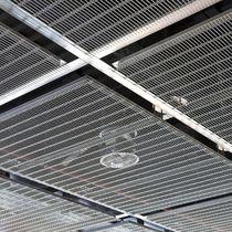 Faux-plafond en inox / en maille métallique / en panneaux