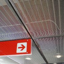 Faux-plafond en inox / en maille métallique / en panneaux / acoustique