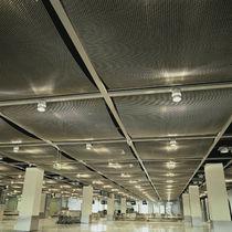 Faux-plafond en maille métallique / en panneaux / grillagé