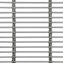Maille métallique pour agencement intérieur / de bardage / en acier inoxydable / à maillage long