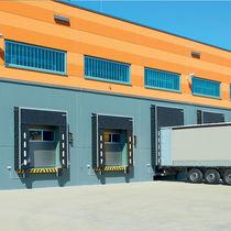 Porte industrielle sectionnelle / en acier / automatique / à isolation thermique
