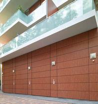 Porte industrielle sectionnelle / en bois / en aluminium / en PVC