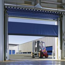 Porte industrielle enroulable / en aluminium / en acier / en tissu