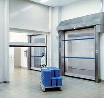 Porte industrielle enroulable / en acier inoxydable / en tissu / automatique