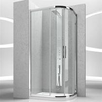 Cabine de douche en verre / courbée / avec porte coulissante