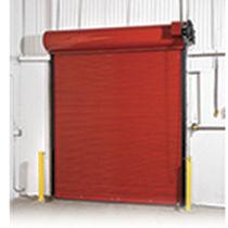 Porte industrielle enroulable / en acier / isolante / coupe-feu