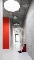 Revêtement de sol en linoléum / professionnel / lisse / aspect marbre