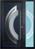 Porte Dentrée Battante En Aluminium à Isolation Thermique - Porte d entrée avec tierce