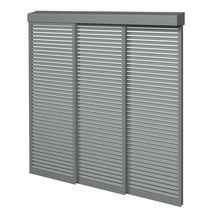 Brise-soleil en aluminium / pour façade / coulissant