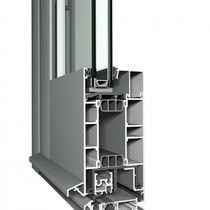 Profilé pour porte en aluminium / de sécurité / à isolation thermique