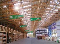 Plaque de toiture en polycarbonate / translucide / ondulé