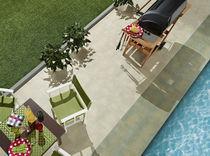 Carrelage pour plage de piscine / pour sol / en grès cérame / uni