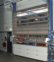 Porte industrielle enroulable / en acier galvanisé / en PVC / automatique