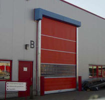 Porte industrielle enroulable / en acier galvanisé / PVC / automatique