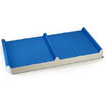Panneau sandwich pour toiture / 2 faces métalliques / âme en polyuréthane PUR