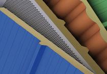 Panneau sandwich pour toiture / 2 faces en acier galvanisé / âme en laine minérale / âme en polystyrène expansé