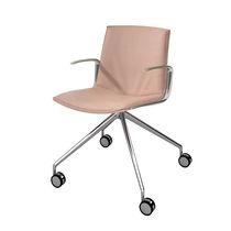 Chaise de bureau contemporaine / avec accoudoirs / à roulettes / en tissu