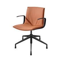 Chaise de bureau contemporaine / avec accoudoirs / à roulettes / piètement étoile