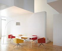 Fauteuil de bureau contemporain / en tissu / en cuir / en aluminium