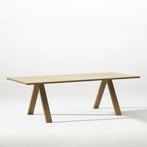 Table de conférence contemporaine / en bois / en acier / en aluminium