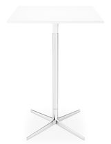 Table mange-debout contemporaine / en MDF / en aluminium / ronde