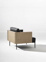 Fauteuil contemporain / en tissu / en cuir / par Jean-Marie Massaud