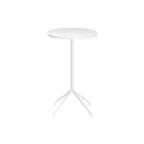Table mange-debout contemporaine / en bois / en HPL / en aluminium