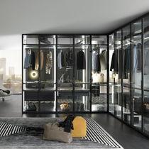 Dressing modulable / contemporain / en verre / en aluminium laqué