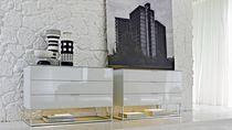 Commode contemporaine / en plaqué bois / en verre / en mélaminé