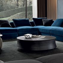 Table basse contemporaine / en métal / ronde / pour hôtel