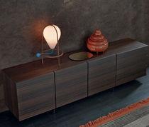 Buffet contemporain / en bois laqué / en plaqué bois / par Jean-Marie Massaud