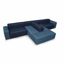 Canapé modulable / contemporain / en tissu / marron