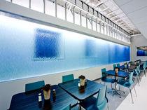 Panneau décoratif en résine / pour agencement intérieur / mural / texturé