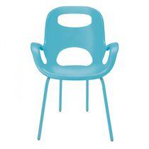 Chaise contemporaine / avec accoudoirs / en acier / en polypropylène