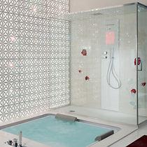Salle de bain contemporaine / en marbre