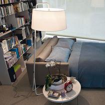 Lampe sur pied / contemporaine / en tissu / en acier