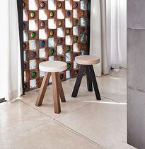 Tabouret design scandinave / en bois / en MDF / noir