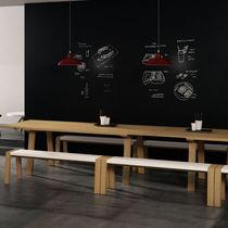Banc design scandinave / en chêne / en bois massif / en MDF