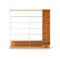 Bibliothèque modulable / mobile / contemporaine / en bois