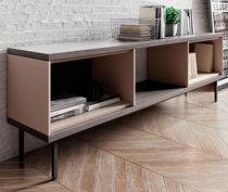 Buffet contemporain / en plaqué bois / en MDF / en acier