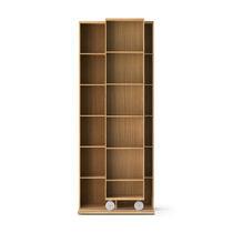 Bibliothèque modulable / contemporaine / en bois / à roulettes