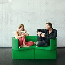 Canapé design original / en cuir / en acier / en fibre de polyester
