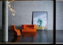 Canapé design original / en fibre de polyester / en acier / en cuir