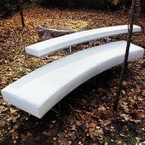 Canapé contemporain / en cuir / en acier / en polyester