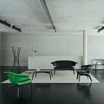 Table basse / contemporaine / en verre / en bois massif