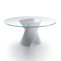 Table contemporaine / en CristalPlant® / en composite / ronde