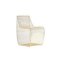 Chaise contemporaine / avec coussin amovible / en acier / en fil de métal