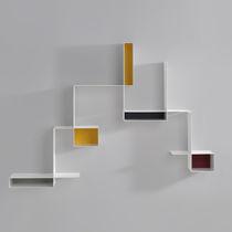 Étagère murale / modulable / contemporaine / en tôle d'acier